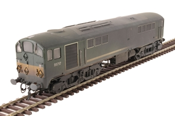 2814 Class 28 CoBo D5717 in BR green with small yellow ends - heavily weathered