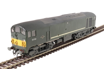 2815 Class 28 CoBo D5709 in BR green with small yellow ends - lightly weathered