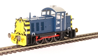 2902 Class 07 shunter D2992 in BR blue with wasp stripes
