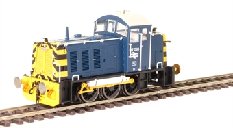 2903 Class 07 shunter 07010 in BR blue with wasp stripes