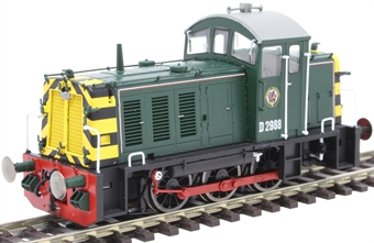 2905 Class 07 shunter D2988 in BR green with wasp stripes