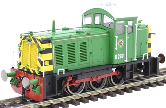 2906 Class 07 shunter D2991 in BR Eastleigh Works light green