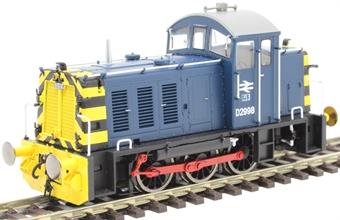 2907 Class 07 shunter D2998 in BR blue
