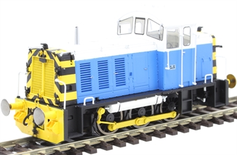 2909 Class 07 shunter 07006 in Powell Duffryn blue and white