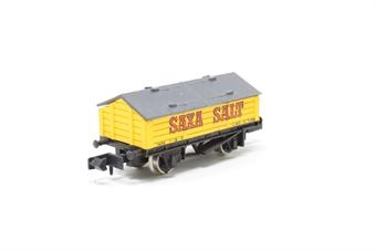 2912Farish-PO08 Salt Wagon 'Saxa' - Pre-owned - imperfect box