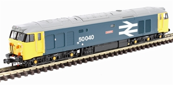 """2D-002-002D Class 50 50040 """"Leviathan"""" in BR large logo blue - DCC fitted"""