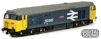 """2D-002-002S Class 50 50040 """"Leviathan"""" in BR large logo blue - DCC sound fitted"""