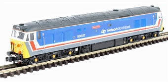 """2D-002-003D Class 50 50037 """"Illustrious"""" in original Network SouthEast livery - DCC fitted"""