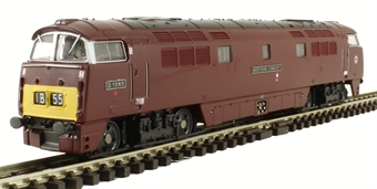 "2D-003-006 Class 52 D1065 ""Western Consort"" in BR maroon with small yellow panels"