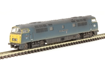 """2D-003-011D Class 52 D1009 """"Western Invader"""" in BR Blue - weathered. DCC Fitted"""