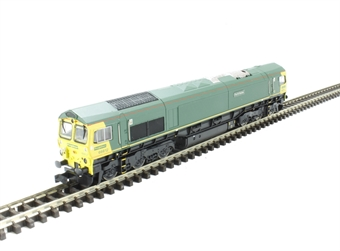 2D-007-004D Class 66 diesel locomotive 66612 in unbranded Freightliner green. DCC Fitted
