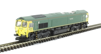2D-007-004 Class 66/5 66612 in unbranded Freightliner green