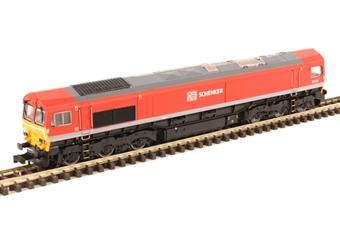 2D-007-008 Class 66/0 66114 in DB Schenker red