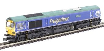 """2D-007-010 Class 66/6 66623 """"Bill Bolsover"""" in Freightliner blue"""