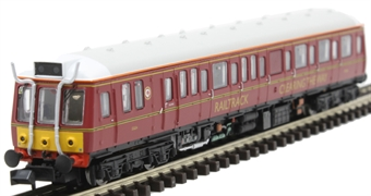 2D-009-006D Class 121 'Bubble Car' DMU 977858 in Railtrack 'Clearing the Way' BR maroon - DCC fitted