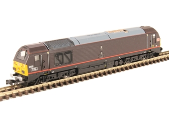 "2D-010-007 Class 67 67005 ""Queen's Messenger"" in Royal Train claret with DB logos"