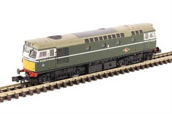 2D-013-001D Class 27 diesel locomotive D5401 in BR green with small yellow panels. DCC Fitted