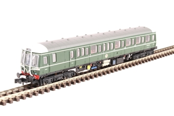 2D-015-001 Class 122 diesel railcar W55000 in BR green with speed whiskers