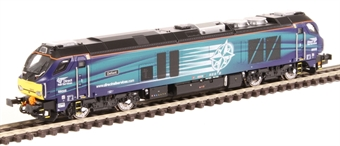 "2D-022-002S Class 68 68005 ""Defiant"" in DRS livery - DCC Sound fitted"