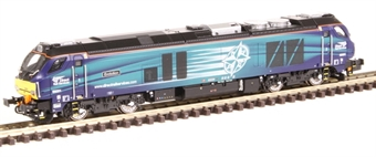 "2D-022-007D Class 68 68001 ""Evolution"" in DRS livery - DCC fitted"