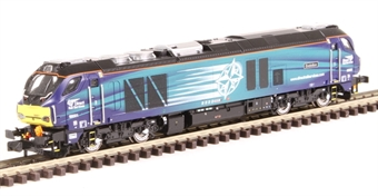 """2D-022-007S Class 68 68001 """"Evolution"""" in DRS livery - DCC sound fitted"""