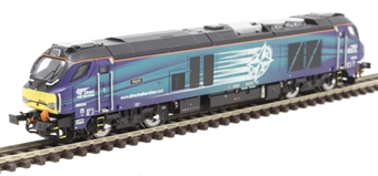 """2D-022-008 Class 68 68004 """"Rapid"""" in Direct Rail Services blue"""