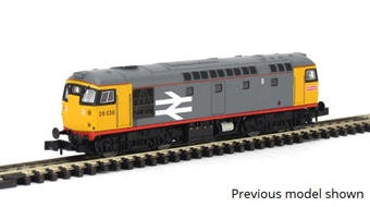 2D-028-004D Class 26 26037 in Railfreight grey with red stripe - Digital fitted