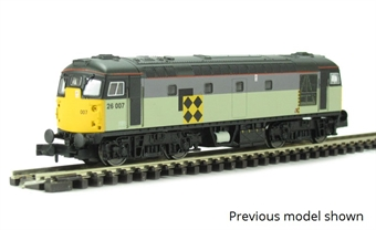 2D-028-005D Class 26 26004 in Railfreight Coal Sector triple grey - Digital fitted