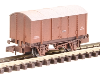 2F-013-060 4-wheel gunpowder van M701055 in in BR livery - weathered