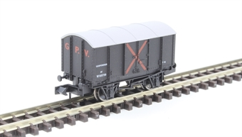 2F-013-065 4 wheel Gunpowder van W105730 in GWR grey