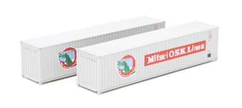 "2F-028-102 Pair of 40 foot containers - ""Mitsui Lines"" - 8186026 and 7016440"