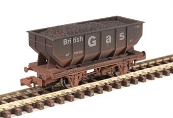 "2F-034-058 21-ton hopper ""British Gas"" - weathered"