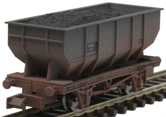 2F-034-072 21 ton steel mineral hopper E289583 in BR grey - weathered