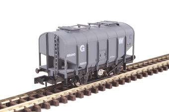 2F-036-021 4-wheel bulk grain hopper 42314 in GWR livery