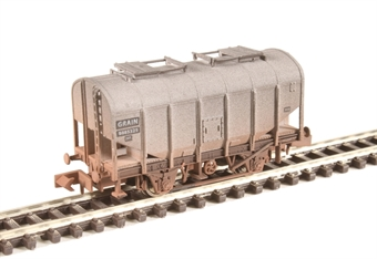 2F-036-030 4-wheel bulk grain hopper B885325 in BR livery - weathered