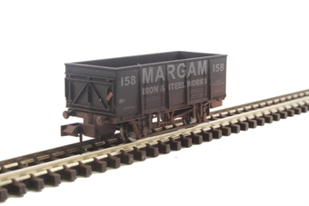 "2F-038-052 20 ton steel mineral wagon ""Margam"" - weathered"