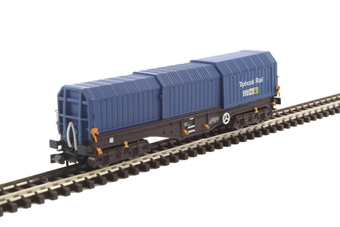 2F-039-010 Telescopic Hood Wagon in Tiphook Rail blue 33 70 0899 040-6 £21