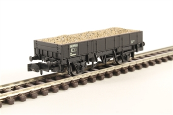 2F-060-012 Grampus ballast wagon DB990653 in BR black