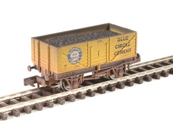 "2F-071-029 7-plank open wagon ""Blue Circle Cement"" - weathered"