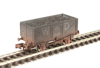 "2F-071-039 7-plank open wagon ""War Department Naval Stores"" - weathered"