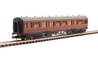 2P-000-002 Collett composite corridor W7021 in BR maroon