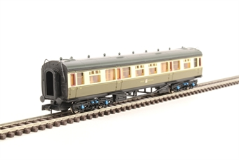 2P-000-056 Collett composite corridor 7023 in GWR chocolate and cream