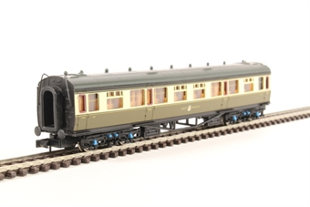 2P-000-157 Collett third class corridor 1116 in GWR chocolate and cream