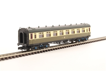 2P-000-158 Collett third class corridor 1096 in GWR chocolate and cream