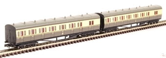 2P-003-007 GWR B Set 6451 and 6452 in GWR chocolate and cream with shirtbutton emblem