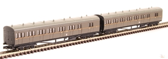 2P-003-008 GWR B set 6453 and 6454 in GWR brown with Twin Cities crest