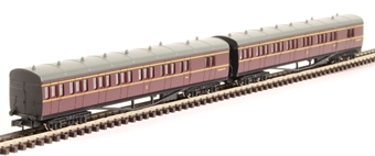 2P-003-011 GWR B set W6548W and W6549W in BR maroon