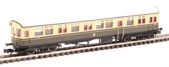 2P-004-010 Collett Autocoach 196 in GWR chocolate and cream with shirtbutton emblem