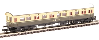 2P-004-011 Collett Autocoach 190 in GWR chocolate and cream with post-war crest