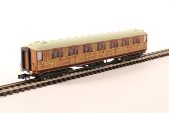 2P-011-105 Gresley Coach LNER Teak 1st Class 31873